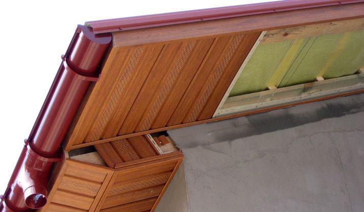 Подшив карниза (свеса) крыши